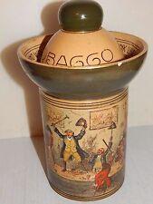 Antique ROYAL DOULTON Tobacco Jar Series 1906 Gentlemen -Tavern- AULD ACQUAINT.