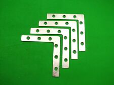Corner plate flat corner brace fixing L bracket,102x102mm, pack of 4 zinc plated