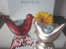 PartyLite TeelichtHalter **TaubenPaar**  Rarität  ++Neu/Ovp++ u. 2 Teelichter