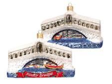 Rialto Bridge Venice Italy Travel Europe Blown Glass Christmas Ornament 110169