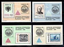 SELLOS BARCOS ARGENTINA 1979 4HB 20/23 EXP. INT. LITERATURA Y PRENSA FILATELICA