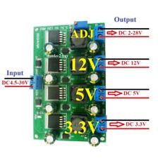 3A Multi-channel DC4.5~30V To DC3.3/5V/12V/2~28V Step Down Regulator Buck Module