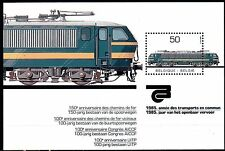 Belgium obp BL61 - RAILWAYS LOCOMOTIVE  s/s 1985 -  **MNH