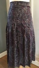Marion Donaldson Vintage Skirt Wool Liberty Fabric Pleated Size 6-8