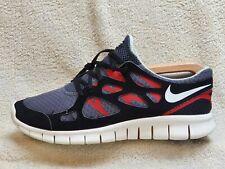 Nike Free Run 2 mens trainers Black/Grey/Red UK 10 EUR 45 US 11