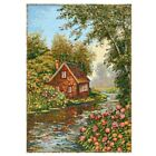 Gobelin Tapestry Textile Picture Naturlandschaften Panels Fabric 13x18 1/8in