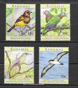 BAHAMAS  Birds set of 4 MINT NH