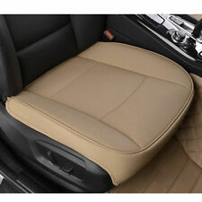 Beige Universal PU Leather Car Seat Cover Protector Cushion Breathable Mats New