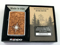 ZIPPO Woodchuck Kompass Emblem beidseitig Feuerzeug Neuheit 2020 - 60004750