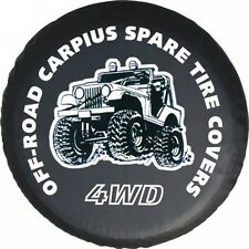 """UNIVERSAL OFF-ROAD CARPIUS SPARE WHEEL TIRE COVER   SIZE 14""""  15"""" 16"""" and 17"""""""
