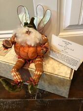 """Mark Roberts Pumpkin Pie Fairy 17"""" New In Box W/Tags Limited Edition With Coa"""