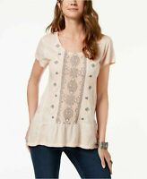 Style & Co Embellished Scoop-Neck Top, Two Different Colors