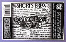 Short's Brew CONTROVERSIUS MAXIMUS beer label MI 12oz STICKER