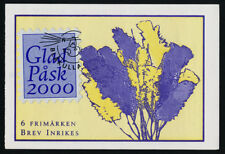 Sweden 2322a Booklet with Easter 2000 label MNH Easter Eggs