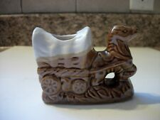 Vintage Souvenir Horse and Wagon Tooth Pick Holder MGM Grand Reno