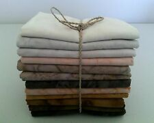 Batik Fat Quarters - 45 x 55 cm *** 12 Per Pack *** Free AU Post - Earth Mix