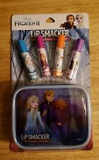 Disney Frozen II  4 Flavored LipSmackers + Zippered case Gift set New ships free