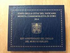 VATICAN 2 EURO 2014 (BU) Chute du Mur de Berlin - Blister Officiel commémoratif