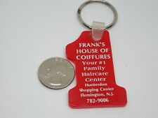 Vintage Frank's House of Coiffures Family Haircare Flemington NJ Keychain