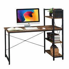 """51.2"""" Desk Corner Desk Computer Office Furniture Workstation Table w/ Bookshelf"""