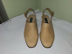 Naturalizer 8W Tan Closed Toe Sandal Back Strap