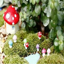 20Pcs Mini Mushroom Miniatures Set Fairy Garden Ornament Lawn Terrarium Decor