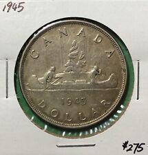 Canada 1945 Silver Dollar $1