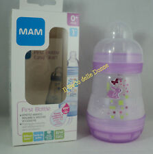 MAM Feeding bottles First bottle 160ml •anti-colic flow teat 1 months 0+ pink