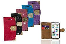 Glitter Leather Book Flip Wallet Back Cover Case  For Samsung J5 S5Neo TrendG318