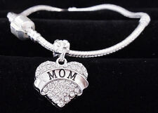 Mom Bracelet Mother bangle  Mum jewelry  mothers day Mommy will love it crystal