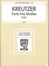 Kreutzer 42 Studies Violin Book Singer English German Fischer L120