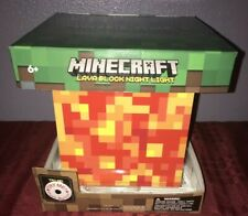 Minecraft Lava Lamp lED Mood Light Glow Soothing Sleep NEW