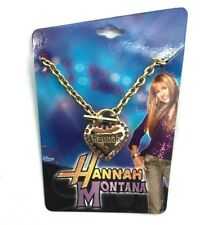 Walt Disney Hannah Montana Studded Heart Pendant Bracelet TV Miley Cyrus Guitar