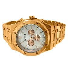Rose Gold Octagon Mens Sport Watch