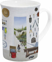 Porzellan*Tasse*Henkelbecher*Mug*Garten*Geräte*Gartenfreude*Geschenkverpackung