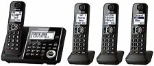 Panasonic Dect-6.0 Phone System w/ 4 Phones, Answering Machine- Black KX-TGF344B