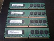 4GB SET - QIMONDA 1GB X 4 PC2-5300U DDR2 DESKTOP MEMORY - 4 PIECES @ 1GB EACH