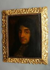 Oil on Canvas Charles II Florentine Giltwood Frame 17th Century