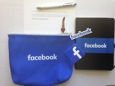 AUTHENTIC FACEBOOK GIFT PACKAGE journal / diary, pen, case, stickers ~ FREE SHIP