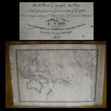 CARTE MAP OF AUSTRALIA - JAPAN - CALIFORNIA dated 1829