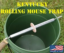 Kentucky Rolling Mouse Trap with Spinning Ring -Log-rolling Mice Rodent USA MADE
