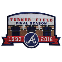 Atlanta Braves Turner Field Final Season 1997-2016 Jersey Sleeve Official Patch
