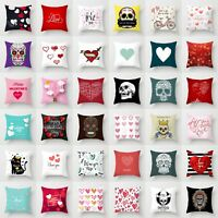 "18"" Skull Polyeser Fashion Throw Pillow Case Cushion Cover Home Sofa Decor"