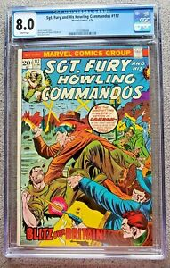 Sgt Fury and his Howling Commandos #117 CGC graded 8.0 VF Jan 1974