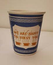 New listing We Are Happy To Serve You Ceramic Cup Mug Solo New York Nyc Greek Diner Coffee