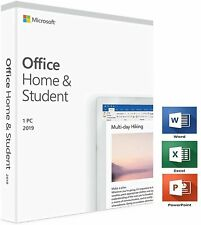 Microsoft Office Home and Student 2019 For 1PC Windows 1 User License Key Card