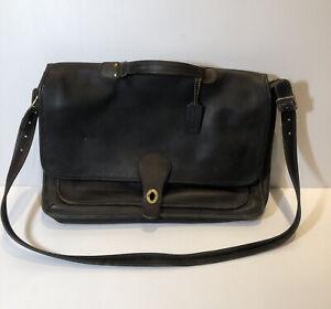 Coach Leather Courier Tote Bag Laptop Vintage
