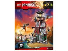 LEGO Ninjago Lighthouse Siege Instruction Booklet from Set 70594 NEW