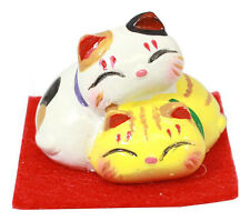 Mini Figurines Neko Petits Chats - Porcelaine - Made in Japan