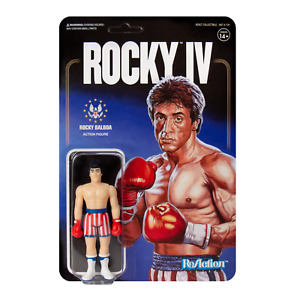 Rocky Balboa Sylvester Stallone Boxer Rocky IV 3 3/4 Inch ReAction Figur Super7